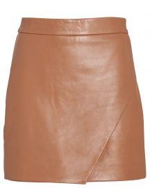 Wrap Leather Mini Skirt by Mason by Michelle Mason at Intermix
