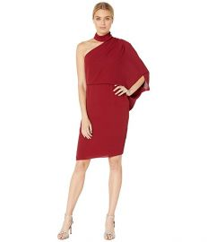 Wrap Neck Asymmetric Draped Dress at Zappos