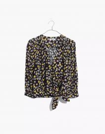Wrap Top in French Floral at Madewell