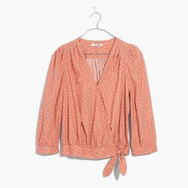 Wrap Top in Star Scatter by Madewell at Madewell