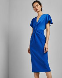 Wrap detail dress at Ted Baker