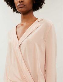Wraparound-front crepe shirt at Selfridges