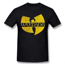 Wu-Tang Clan DIstressed Logo Black T-shirt Tee at Amazon