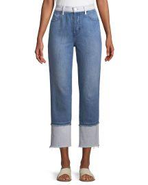 Wynne High-Rise Cropped Straight-Leg Jeans at Bergdorfgoodman