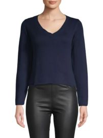 Wythe NY - Cropped V-neck Sweater at Saks Off 5th