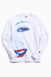 X Pleasures Lip Bite Crew Neck Sweatshirt at Urban Outfitters