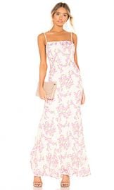 X by NBD Lovely Gown in Pink  amp  Ivory Ground from Revolve com at Revolve