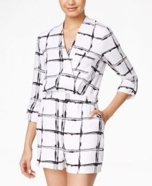 XOXO Juniors Printed Surplice Romper at Macys
