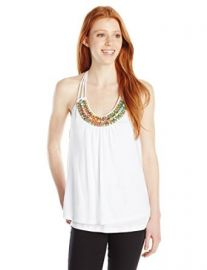 XOXO Womenand39s Embellished Neckline Top at Amazon