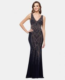 XSCAPE Embellished Gown    Reviews - Dresses - Women - Macy s at Macys