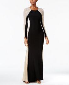 XSCAPE Rhinestone Illusion Gown   Reviews - Dresses - Women - Macy s at Macys