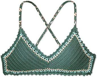 Xhilaration Womens Crochet Bralette Bikini Top at Amazon