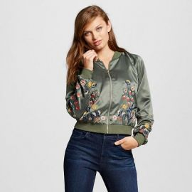 Xhiliration Embroidered Bomber Jacket at Target