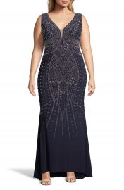 Xscape Beaded Evening Gown  Plus Size    Nordstrom at Nordstrom
