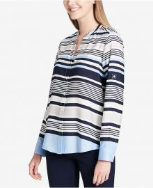 Y Neck blouse by Calvin Klein at Macys