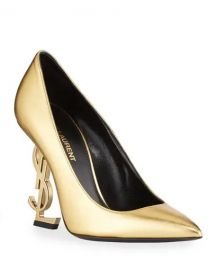 YSL Opyum Metallic Leather YSL Pumps at Last Call