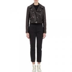 Yang Li Leather Moto Jacket at Barneys