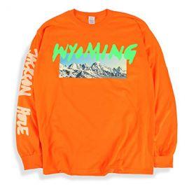 Ye Long Sleeve T Shirt Wyoming Listening Party Orange at Amazon