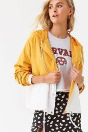 Yellow Colorblock Raglan Windbreaker by Forever 21 at Forever 21
