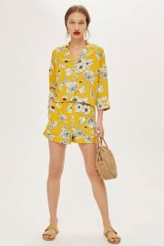 Yellow Floral Print Pajamas by Topshop at Topshop