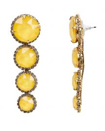 Yellow Graduated Drop Earrings at Intermix