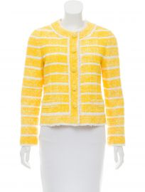 Yellow Tweed Stripe Blazer by Marc Jacobs at Marc Jacobs