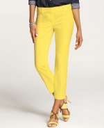Yellow cropped pants at Ann Taylor at Annetaylor