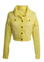 Yellow denim jacket from Delias at Delias
