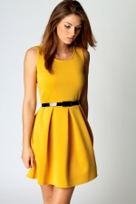 Yellow dress at Boohoo