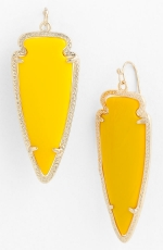 Yellow earrings like Zoes at Nordstrom
