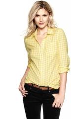 Yellow gingham shirt at Gap
