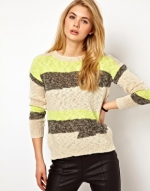 Yellow graphic sweater at Asos