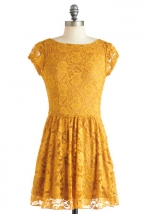 Yellow lace dress from Modcloth at Modcloth
