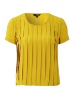 Yellow pleated top like Belle's at House of Fraser
