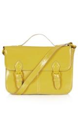 Yellow satchel at Topshop