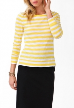 Yellow striped tee at Forever 21