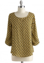 Yellow top at ModCloth in the same print at Modcloth
