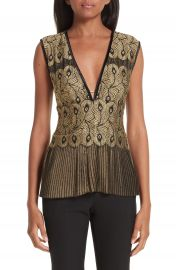 Yigal Azrou  l Pleated Lace Top   Nordstrom at Nordstrom