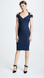 Yigal Azrouel Off Shoulder Dress with Velvet Straps at Shopbop