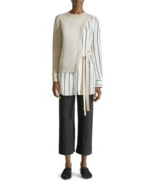 Yigal Azrouel Sweater Blouse Combo Top Women - Bloomingdale s at Bloomingdales
