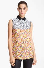 Yigal Azroul Floral Ikat Georgette Blouse at Nordstrom