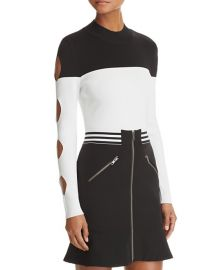 Yigal x Aqua Cutout Color-Block Sweater at Bloomingdales
