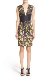 YigalAzrouel Pop ArtPrint Sleeveless Scuba Sheath Dress at Nordstrom