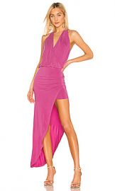 Young  Fabulous  amp  Broke Birdseye Dress in Fuchsia from Revolve com at Revolve
