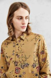 Your Neighbors Ornate Floral Button-Down Shirt at Urban Outfitters