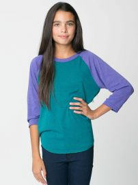 Youth Tri Blend Raglan tee at American Apparel