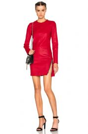 Yves Leather Dress at Forward