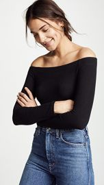 Z Supply Long Sleeve Off The Shoulder Tee at Shopbop