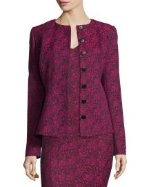 ZAC Zac Posen Bell Printed Tailored Jacket at Neiman Marcus