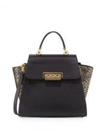 ZAC Zac Posen Eartha Metallic Colorblock Leather Tote Bag Gold at Neiman Marcus
